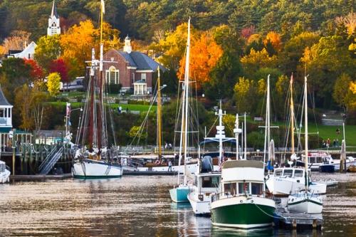 Camden Harbor in the Fall